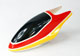 Click for the details of Painted Fiberglass Canopy for 450 Series Electric Helicopter (Red&Yellow).