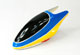 Click for the details of Painted Fiberglass Canopy for 450 Series Electric Helicopter (Blue&Yellow).