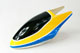 Click for the details of Painted Fiberglass Canopy for 450 Series Electric Helicopter (Yellow&Blue).