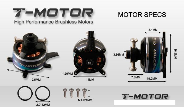 T Motor T1306 3200kv Outrunner Brushless Motor T Motor