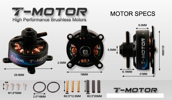 T Motor T1806 2000kv Outrunner Brushless Motor T Motor
