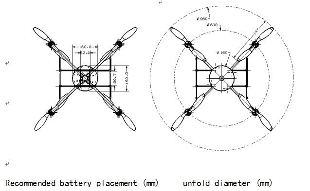 Lotusrc T580p Quadcopter Folding Design Lotusrc