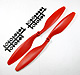 Click for the details of FC 8 x 45 Propeller Set (one clockwise rotating, one counter-clockwise rotating) - Red.