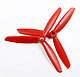 Click for the details of 3-blade 6 x 45 Propeller Set (one CW, one CCW) - Red.