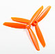 Click for the details of 3-blade 6 x 45 Propeller Set (one CW, one CCW) - Orange.