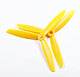 Click for the details of 3-blade 6 x 45 Propeller Set (one CW, one CCW) - Yellow.
