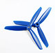 Click for the details of 3-blade 6 x 45 Propeller Set (one CW, one CCW) - Blue.