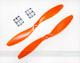 Click for the details of GF 9x4.7 Nylon Propeller Set (one CW, one CCW) - Orange.
