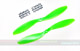 Click for the details of GF 10x4.5 Nylon Propeller Set (one CW, one CCW) - Green.