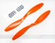 Click for the details of GF 10x4.5 Nylon Propeller Set (one CW, one CCW) - Orange.