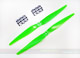 Click for the details of GF 11x5 Nylon Propeller Set (one CW, one CCW) - Green.