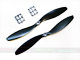 Click for the details of GF 12x3.8 Nylon Propeller Set (one CW, one CCW) - Black.