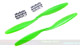 Click for the details of GF 12x4.5 Nylon Propeller Set (one CW, one CCW) - Green.