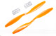 Click for the details of GF 12x4.5 Nylon Propeller Set (one CW, one CCW) - Orange.