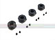Click for the details of d8mm CNC Aluminum Fixing Base with Shock Absorbing Rubber (4pcs) - Black.
