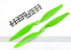Click for the details of 11 x 5.5 Hyper Drive Propeller Set (one CW, one CCW) - Green.