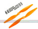 Click for the details of 11 x 5.5 Hyper Drive Propeller Set (one CW, one CCW) - Orange.