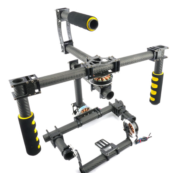 Handheld 3 Axis Camera Brushless Gimbal For Canon 5d2 Kit