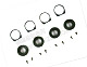 Click for the details of d12mm CNC Aluminum Fixing Base with Shock Absorbing Rubber (4pcs).