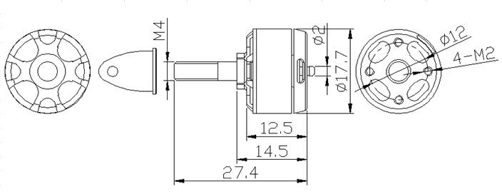 Sunnysky X1306s 3100kv Outrunner Brushless Motor Cw Ccw