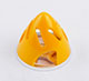 Click for the details of Φ63mm Aluminum + ABS  Hollow-carved Spinner for 2-blade Prop - Yellow.