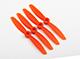 "Click for the details of GEMFAN 4045 / 4 x 4.5"" Fiberglass Nylon CR/ Counter Rotating Propellers - Orange  (4pcs) ."