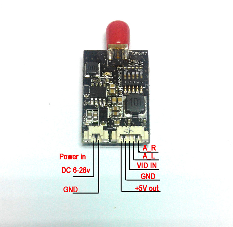 AOMWAY 5 8G 32CH 600mW Mini A V Transmitter VTX AOMWAY