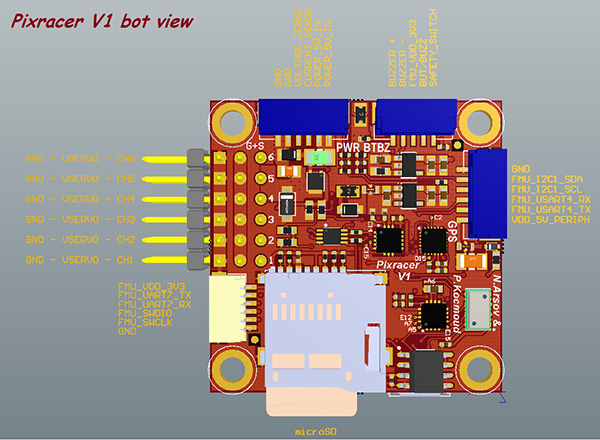 Sd Card Sizes >> PIXRACER Mini Autopilot Flight Controller | V1.0