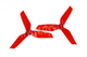 Click for the details of DYS 5x4.2 5042 Tri-blade Bullnose Propeller Set (1CW/ 1CCW) - Red.