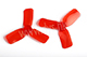 Click for the details of DYS 2x3 2030 Tri-blade Bullnose Propeller Set (4CW/ 4CCW) - Red.