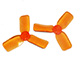 Click for the details of DYS 2x3 2030 Tri-blade Bullnose Propeller Set (4CW/ 4CCW) - Orange.