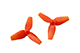 Click for the details of KINGKONG 40mm Tri-blade Propeller Set (10CW/ 10CCW) - Red.