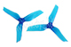 Click for the details of DYS  XT50513 Tri-blade Propeller Set (1CW/ 1CCW) - Blue.