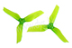 Click for the details of DYS  XT50513 Tri-blade Propeller Set (1CW/ 1CCW) - Green.
