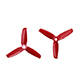 "Click for the details of GEMFAN FLASH 3052 / 3 x 5.2""  CW/ CCW Tri-blade Propeller Set - Red  (2CW/2CCW) ."