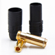 Click for the details of AS150 Golden Plated 7mm Connector, Male/Female - Black.