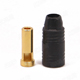 Click for the details of AMASS AS150 7mm Anti-spark Gold-plated Banana Connector (bullet connector) - Male, Black.