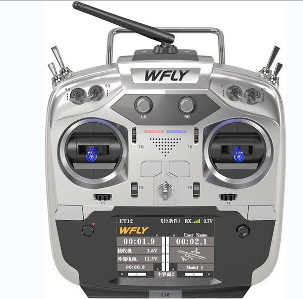 WFLY 2.4G 12-channel Radio ET12 W/ RF209S Receiver