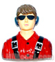 Click for the details of L85×W42×H90mm Aeroplane 1/6 Scale Pilot Red HY031-00402.