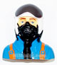 Click for the details of L75×W46×H76mm Jet Plane 1/6 Scale Pilot Blue HY031-00403.