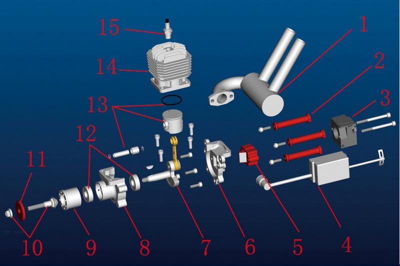 Engine Break In Oil >> JC23 EVO 23CC 2-Stroke Gas/Petrol Engine   JC ENGINE