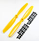Click for the details of 9 x 45 Propeller Set (one CW, one CCW) - Yellow.