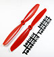 Click for the details of 11 x 45 Propeller Set (one CW, one CCW) - Red.