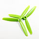 Click for the details of 3-blade 5 x 45 Propeller Set (one CW, one CCW) - Green.