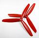 Click for the details of 3-blade 9 x 45 Propeller Set (one CW, one CCW) - Red.