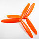 Click for the details of 3-blade 9 x 45 Propeller Set (one CW, one CCW) - Orange.