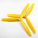 Click for the details of 3-blade 9 x 45 Propeller Set (one CW, one CCW) - Yellow.