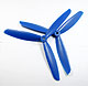 Click for the details of 3-blade 9 x 45 Propeller Set (one CW, one CCW) - Blue.
