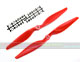 Click for the details of 11 x 5.5 Hyper Drive Propeller Set (one CW, one CCW) - Red.