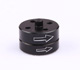 Click for the details of CNC Quick Release Prop Adaptor  - Counter Rotating, Black.